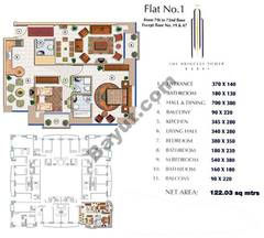 Floors (7-72) Flat 1 2Bedroom Except Floors (19,47)