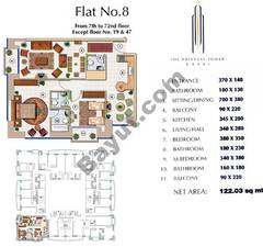 Floors (7-72) Flat 8 2Bedroom Except Floor (19,47)