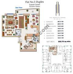 Floors (65-72) Flat 5 Duplex Lower Level 3Bedroom