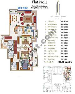 Floors (7-72) Flat 3 3Bedroom Except Floor (19,47)