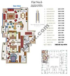 Floors (7-72) Flat 6 3Bedroom Except Floor (19,47)