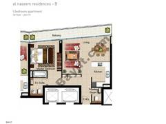 1 BR APT, BLDG B, 1st Floor, Plot 111, Type 1J