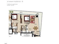 2 BR APT BLDG B, 3rd Floor, Plot 312, Type 2P