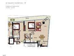 2 BR APT, BLDG B, 2nd Floor, Plot 212, Type 2Q