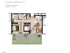 2 BR APT, BLDG B, Ground Floor, Plot 003,Type 2C