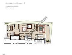 3 BR APT BLDG B, 9th Floor, Plot 906, Type 3S
