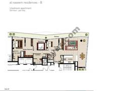 3 BR APT BLDG B, 10th Floor, Plot 1004, Type 3O