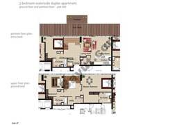 3 BR APT BLDG C, Ground floor and pontoon - Floor, Plot 008, Type 3F