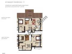 3 BR APT BLDG C, Ground floor and pontoon Floor, Plot 009, Type 3G
