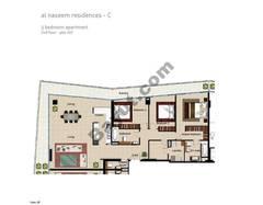 3 BR APT BLDG C,2nd  floor - Floor, Plot 207, Type 3k