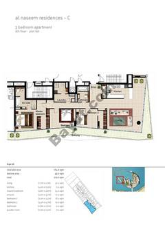 3 BR APT BLDG C,9th floor , Plot901, Type 3L