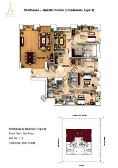 Penthouse-3 Bedroom-type 2-71st to75th