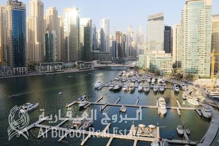 2 Bedroom Apartment for Sale in Dubai Marina, Dubai - Ary Marina View- Rented 2BR- Investment Opportunity