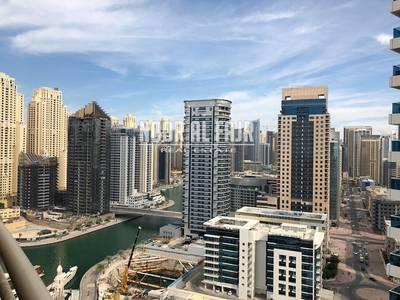 2 Bedroom Apartment for Rent in Dubai Marina, Dubai - Pay 4 Chq 2BR+Balcony+balcony Marina view