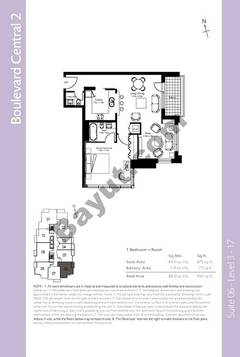 Level 3to17 - 1 Bedroom (Type 2)