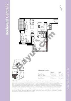 Level 3to17 - 1 Bedroom (Type 3)