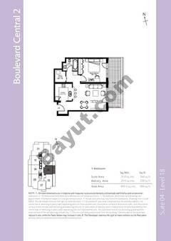Level 18 - 1 Bedroom (Type 1)