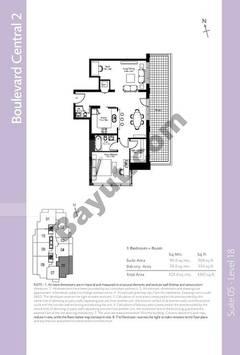 Level 18 - 1 Bedroom (Type 2)