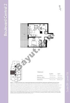 Level 18 - 1 Bedroom (Type 3)