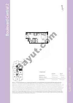 Level 19to20 - 1 Bedroom (Type 1)