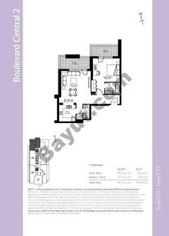 Level 21 - 1 Bedroom (Type 1)