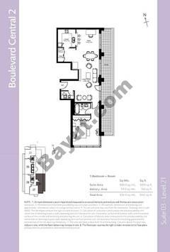 Level 21 - 1 Bedroom (Type 2)