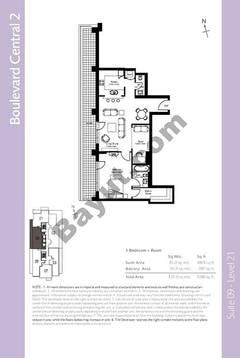 Level 21 - 1 Bedroom (Type 4)