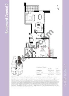 Level 2to17 - 2 Bedrooms