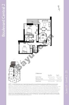 Level 2to20 - 2 Bedrooms