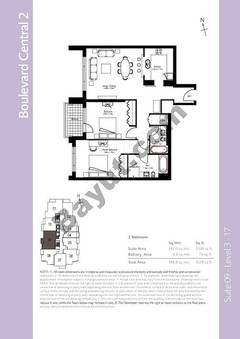Level 3to17 - 2 Bedrooms