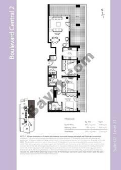 Level 21 - 3 Bedrooms (Type 1)