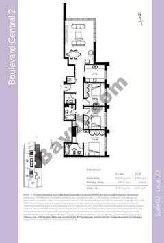 Level 21 - 3 Bedrooms (Type 2)