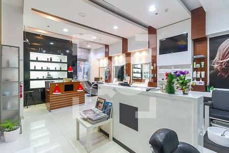 Shop for Rent in Jumeirah Lake Towers (JLT), Dubai - Best Men Salon in JLT with Facial Rooms available for Sale
