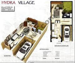 Ground Floor 3 Bedroom Villa Type D1