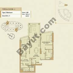 2 Bedrooms Apartment 1