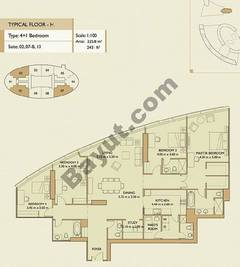 4 Bedrooms Apartment