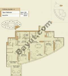 4 Bedrooms Apartment 1