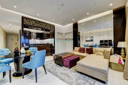 1 Bedroom Apartment for Rent in Downtown Dubai, Dubai - One Bedroom Fully Furnished with Community View