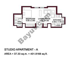 Typical Units, Studio Apartment, Type A