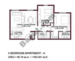 Typical Units, 2 BR, Type A