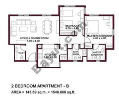 Typical Units, 2 BR, Type B