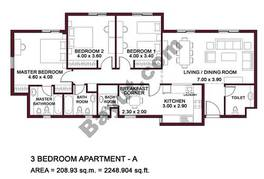 Typical Units, 3 BR, Type A