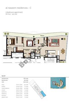 3 BR APT BLDG C,9th floor , Plot906, Type 30