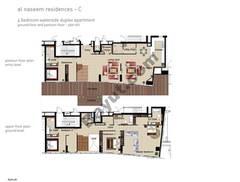 4 BR APT BLDG C, Ground floor and pontoon - Floor, Plot 001, Type 4A