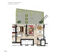 1 BR APT, Ground Floor, Plot 011, Type 1M