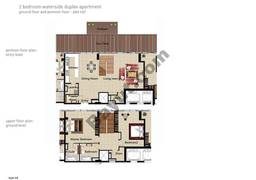 2 BR APT BLDG C, Ground floor and pontoon-Floor, Plot 007,Type 2A