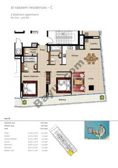 2 BR APT BLDG C,8th floor , Plot801, Type 2K