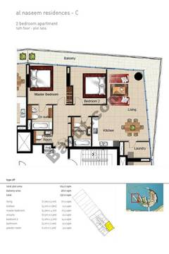 2 BR APT BLDG C,14th floor , Plot1404, Type 2p
