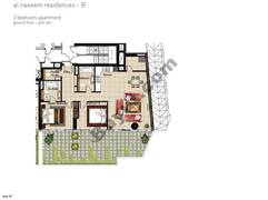 2 BR APT, BLDG B, Ground Floor, Plot 001,Type 2Z