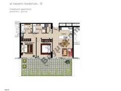 2 BR APT, BLDG B, Ground Floor, Plot 003,Type 2C